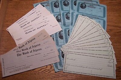 25pc Lot Bank Checks, Certificate, Drafts 1878-1930s