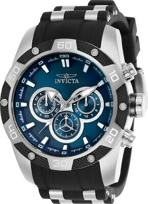 Invicta Men's Watch Speedway Scuba Blue Dial TT Black and Silver Strap 25833