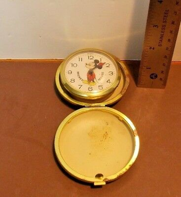 Vintage Mickey Mouse Travel Clock