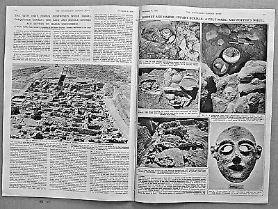 CITY OF HAZOR IN ISRAEL EXCAVATION Indepth! 1956 Newspaper THE SUEZ CANAL CRISIS