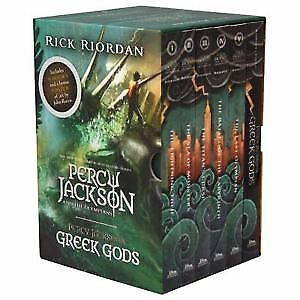 NEW Percy Jackson & The Olympians 6 Books Gift Box Set Collection + Bonus Poster