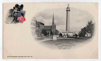 BALTIMORE MARYLAND PMC PC Postcard PRIVATE MAILING CARD Washington Monument MD