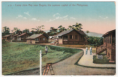 CAMP JOHN MAY PC Postcard BAGUIO CITY Philippines NORTHERN LUZON Asia MILITARY