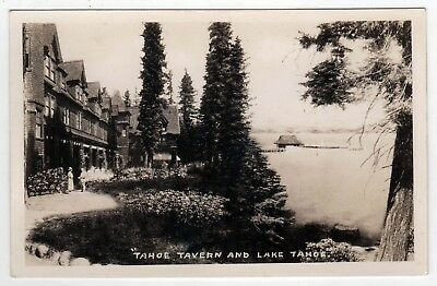 RARE Lake Tahoe Tavern CALIFORNIA RPPC RP Real Photo Postcard Nevada CITY CA NV