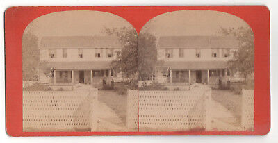 Rare BEAUFORT SOUTH CAROLINA Stereoview 1860s SC Front View Mrs Nichols House