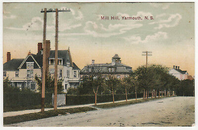 MILL HILL Yarmouth Nova Scotia Canada PC Postcard MANSIONS Residences NS Homes