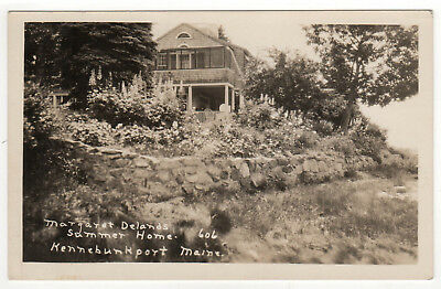 KENNEBUNKPORT MAINE RPPC RP Real Photo Postcard MARGARET DELAND Summer Home