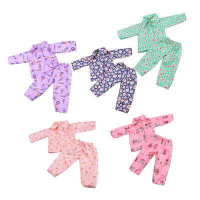 5 Set Pajamas Clothes Flowers for 18inch American Girl Doll Clothing