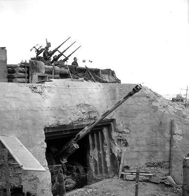 WWII Photo Captured Normandy Bunker D-Day  WW2  World War Two France / 1004