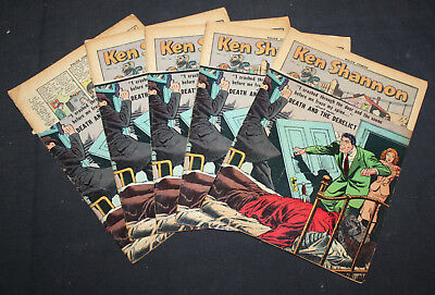 JERRY WEIST ESTATE: 5 copies POLICE COMICS #120 (Quality 1952) title stripped EX