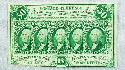 FR.1312 1st Issue 50 Cent US Fractional (Postage Currency) - ABC Monogram