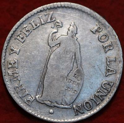 1828 Peru 2 Reales Silver Foreign Coin
