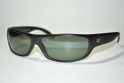 Scratched Ray Ban 4046 601-S/9A Matte Black Sport Wrap Polarized Sunglasses