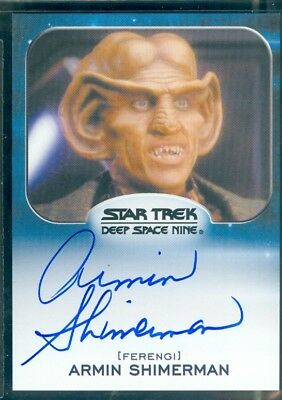 Star Trek Aliens 2014  Armin Shimerman as Quark  Autograph  Card