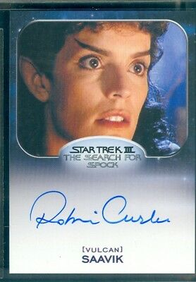 Star Trek Aliens 2014  Robin Curtis as Saavik  Autograph  Card