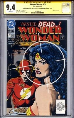 WONDER WOMAN #78 CGC 9.4 SS BRIAN BOLLAND & WILLIAM MESSNER-LOEBS (highest s/s)