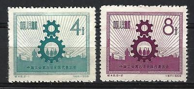 CHINA PRC SC#347-48,  8th All-China Trade Union Congress- Peking  C48  Mint NH