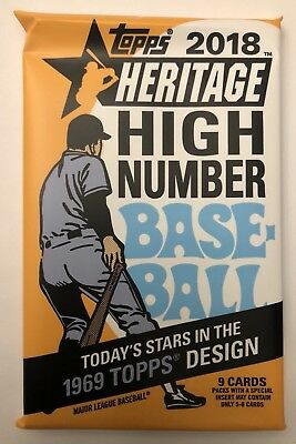 TARGET 1969 COLLECTOR CARD! Hot Pack 2018 Topps Heritage High Baseball Insert