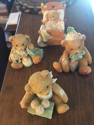 Enesco Cherished Teddies Birthday From birth to age 7  Total 8 pieces