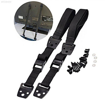 2119 2pcs/Set TV Belt Television Belt Tie Downs Strap Safety Strap Metal
