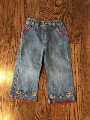 Baby Gap Toddler Girls (18-24 Mths) Denim / Jeans / Pants W/ Floral Accent