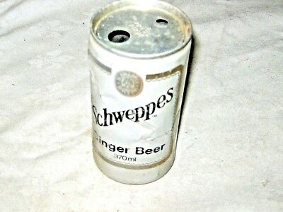 A Vintage Mid 70's Schweppes Aluminium Pop Top Ginger Beer Can