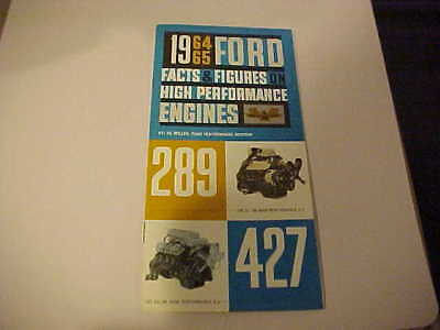 1964-65,, Facts And Figures,,,,ford Hi Performance Engines