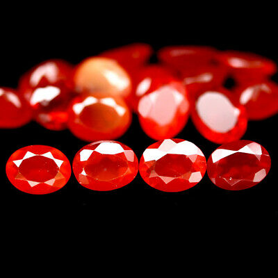 1.98 CT NATURAL 19PCS FIRE RED MEXICO OPAL OVAL 3 X 4 mm.