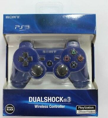 Blue Wireless Bluetooth Game Controller Gamepad Joystick for PlayStation 3 PS3