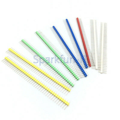 10Stks Blue/Red/Yellow/Green/White 40Pin 1x40P Male 2.54mm Breakable Pin Header