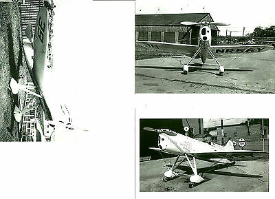 Set Of 3 - Lot #52 B&w 4X6 Photos: Burrows & Ike Racing Airplanes