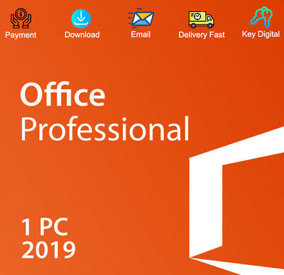 Genuine Office 2019 Pro Plus 32/64 Bit Dowload Activation Code 1 PC