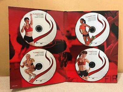 Turbo Fire 4 Dvd Set Fitness Advanced Class Abs Stretch Exercise Gym Class New