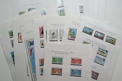 XL3737:  Virgin Islands (1967 – 83):  Complete Mint Stamp Collection inc Minishe