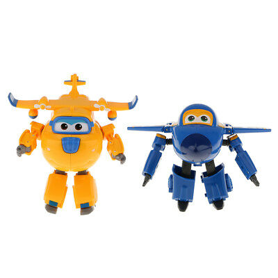 2X Animation Character Toys Super Wings Jerome Donnie Transforming Robot Set