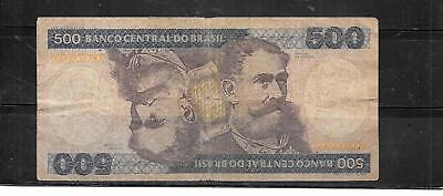 BRAZIL #200a 1981 VG CIRC 500 CRUZEIROS OLD BANKNOTE PAPER MONEY CURRENCY NOTE