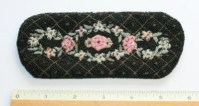 Quality French Bead Work Spectacles Case Etui, Retail By Saks 5Th Av. Usa, C1900