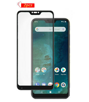 2 x Tempered Glass Screen Protector Guard For Xiaomi Mi A2 Lite Full Cover