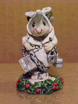 "Wee Forest Folk Mouse CC-3 ""MARLEY'S GHOST"" Christmas Carol-1987-By AP-Retired"