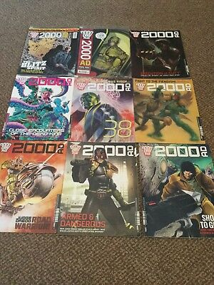 2000ad-judge dredd comic 2009/2015 joblot
