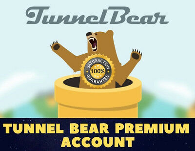 Tunnel Bear Premium VPN Account With Warranty & Auto-Renew [INSTANT DELIVERY]