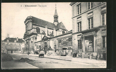 CPA Chaumont, Le Lycee 1915