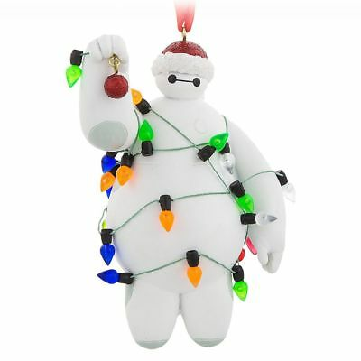 Disney Parks Baymax with Christmas Lights Ornament Walt Disney World Parks NEW