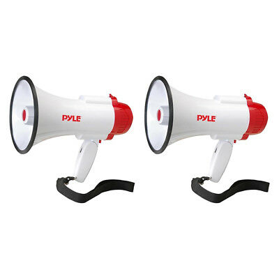 Pyle Pro Megaphone Bull Horn with Siren and Voice Recorder, 2 Pack | PMP35R