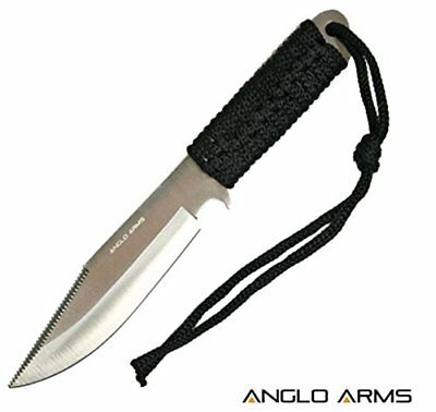 Anglo Arms 7 Inch Laced Green Knife Outdoor Hunting Fishing Camping - Paracord