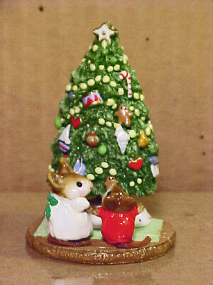 "Wee Forest Folk Mouse M-123 ""UNDER THE CHRIS-MOUSE TREE""-1985-By AP-Retired 1998"
