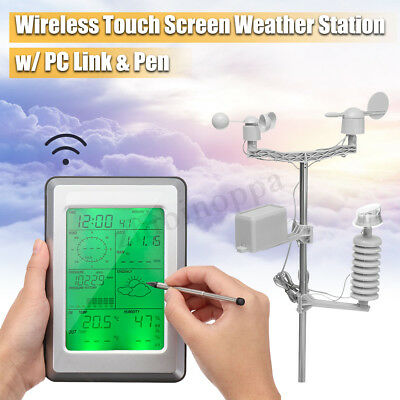 Weather Station SET LCD Forecast Thermometer Barometer Humidity Outdoor 4 Sensor