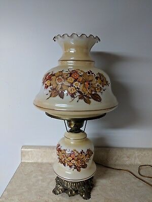 Gone With The Wind Antique 3-way Frosted Glass Asian Themed Ginger Jar Lamp Excellent In Quality
