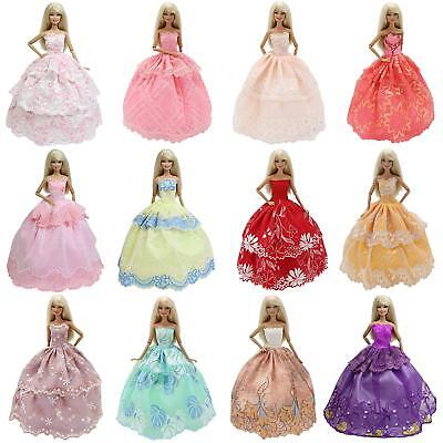 6pcs Fashion Princess Party Dress Clothes Gown Handmade For 11.5 inch Girl Doll