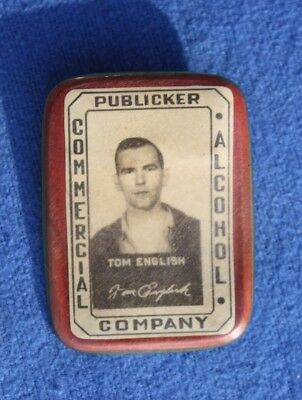 1930s Publicker Commercial Alcohol Co, Philadelphia Employee Photo ID Badge